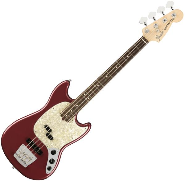 Electric bass for kids Fender American Performer Mustang Bass (USA, RW) - aubergine