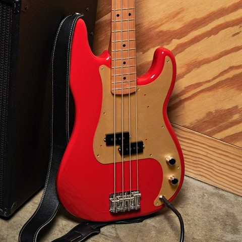 Solid body electric bass Fender Vintera 50's Precision Bass (MEX, MN) - dakota red