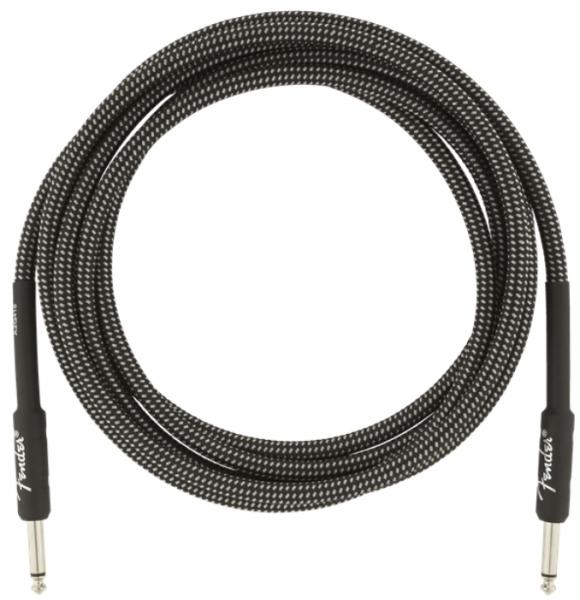 Cable Fender Professional Instrument Cable, Straight/Straight, 10ft - Gray Tweed