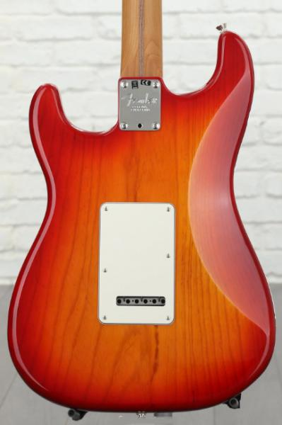 Solid body electric guitar Fender Ash American Professional Stratocaster Ltd 2019 (USA, MN) - aged cherry burst