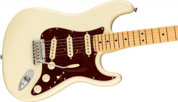 Solid body electric guitar Fender American Professional II Stratocaster (USA, MN) - olympic white