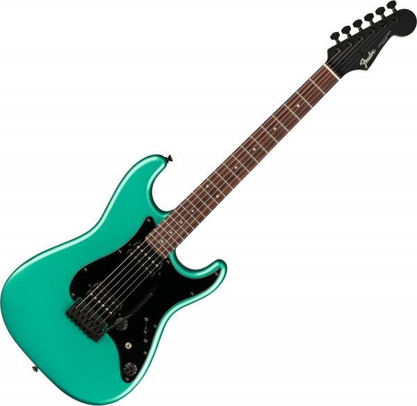 Solid body electric guitar Fender Boxer Stratocaster HH (Japan, RW) - Sherwood green metallic