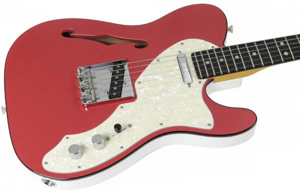 Semi-hollow electric guitar Fender 2-Tone Telecaster Thinline Ltd (USA, EB) - fiesta red