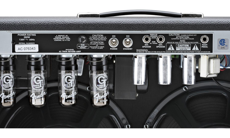 fender 39 65 twin reverb black electric guitar combo amp star 39 s music. Black Bedroom Furniture Sets. Home Design Ideas