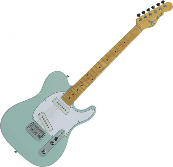 Solid body electric guitar G&l Tribute ASAT Special - Surf green
