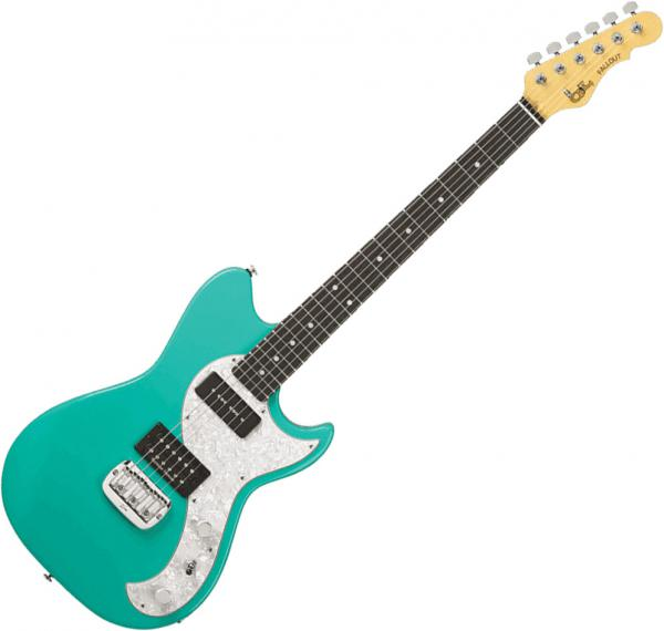 Solid body electric guitar G&l Tribute Fallout - Mint green