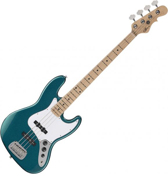 Solid body electric bass G&l Fullerton Standard JB (USA, MN) - Emerald blue