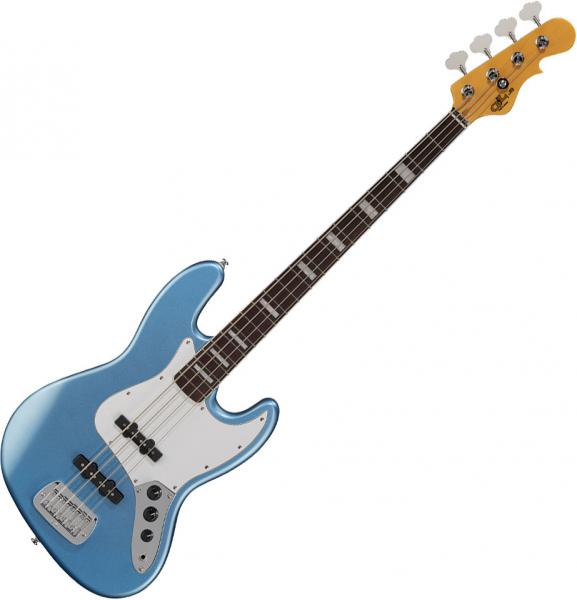 Solid body electric bass G&l Tribute JB - Lake placid blue