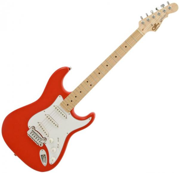 Solid body electric guitar G&l Tribute Legacy - Fullerton red