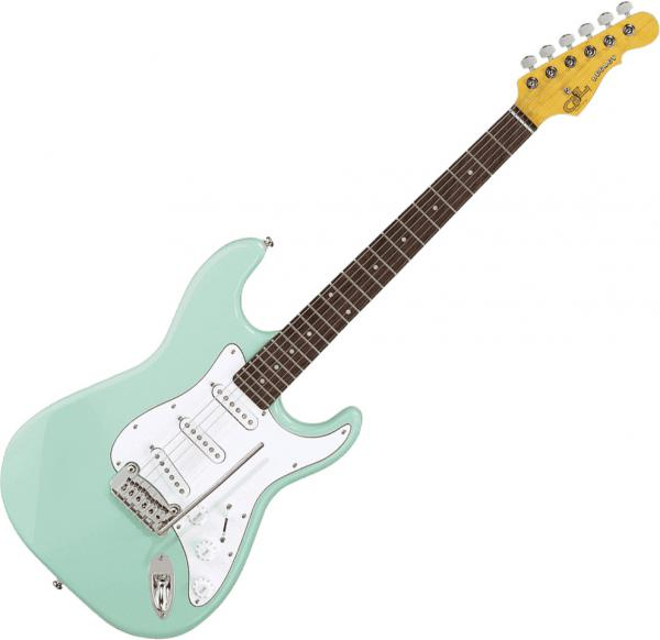 Solid body electric guitar G&l Tribute Legacy - Surf green