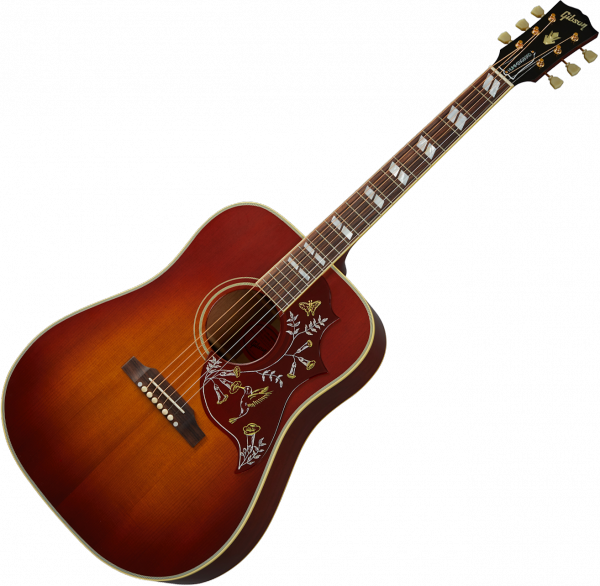 Acoustic guitar & electro Gibson Custom Shop 1960 Hummingbird Fixed Bridge - Vos heritage cherry sunburst