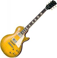 Solid body electric guitar Gibson Custom Shop 60th Anniversary 1959 Les Paul Standard (Bolivian RW) - Green lemon fade