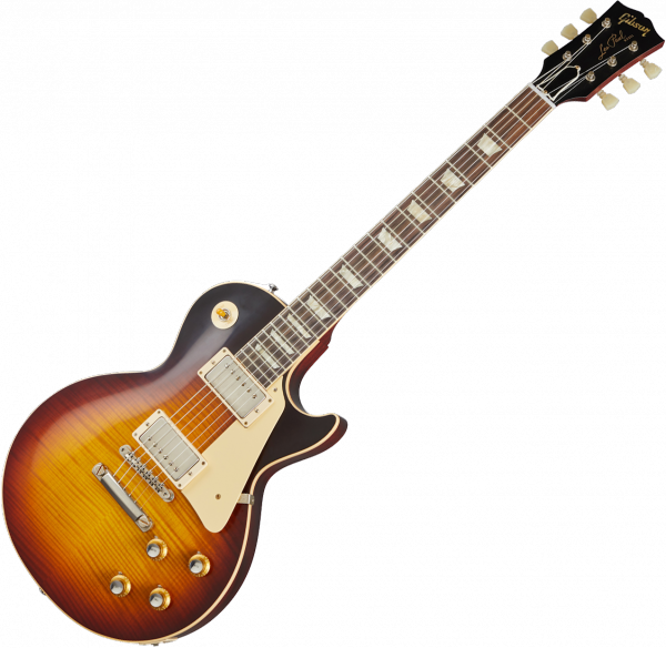 Solid body electric guitar Gibson Custom Shop 60th Anniversary 1960 Les Paul Standard V3 - vos washed bourbon burst