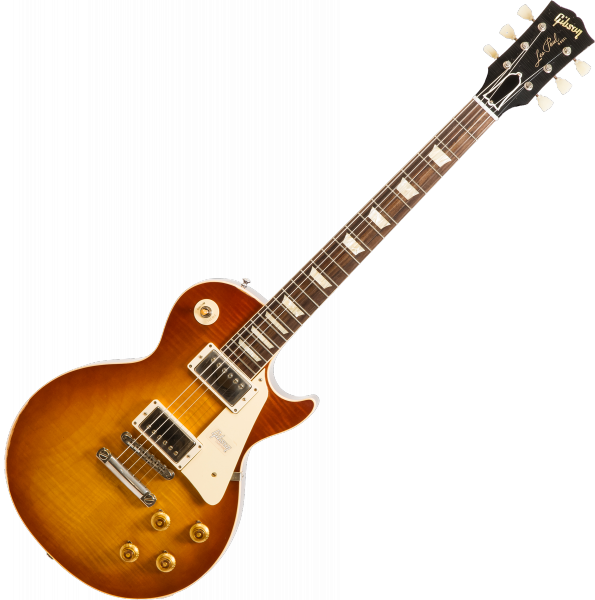 Solid body electric guitar Gibson Custom Shop M2M 1958 Les Paul Standard #891117 - Lightly aged iced tea