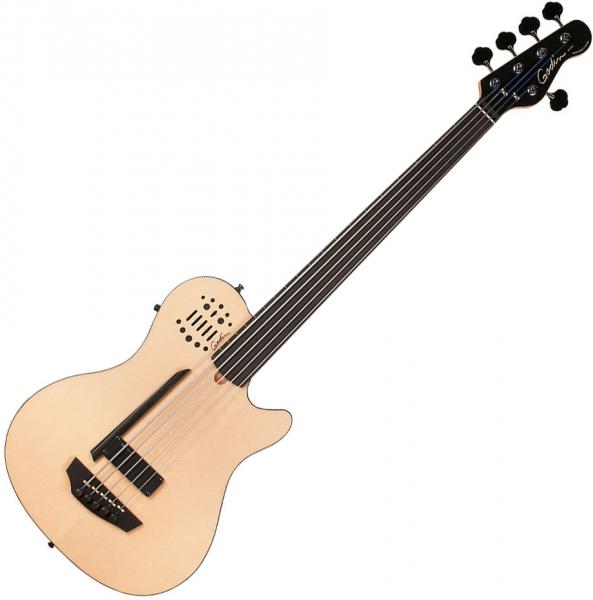 Acoustic bass Godin A5 Bass Ultra Fretless SA +bag - Natural