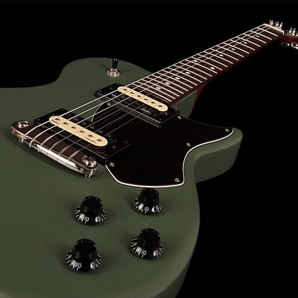 Solid body electric guitar Godin Summit Classic SG - matte green