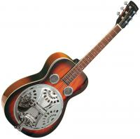 Dobro resonator Gold tone Paul Beard PBR Roundneck Resonator Guitar +Case - Sunburst