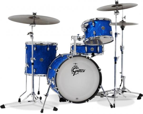 Jazz drum kit Gretsch Gretsch Catalina Club Jazz LTD 2018 - 3 shells - Blue satin flame