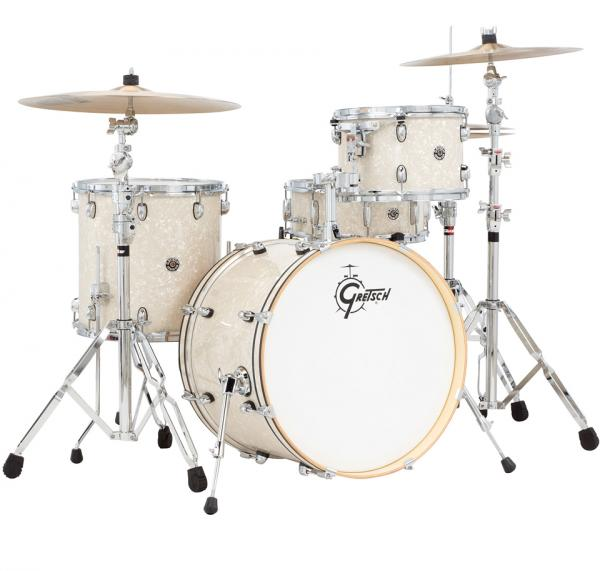 Jazz drum kit Gretsch J404VMP Catalina Club Jazz 20 - 4 shells - Vintage pearl
