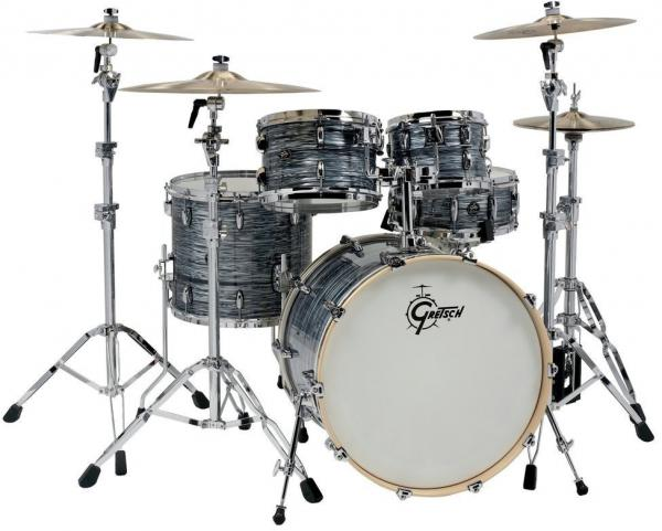Strage drum-kit Gretsch Renown Maple Stage 22 - 4 shells - Silver oyster pearl
