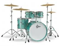 Jazz drum kit Gretsch Renown RN2-E8246 2016 - 4 shells - Turquoise sparkle