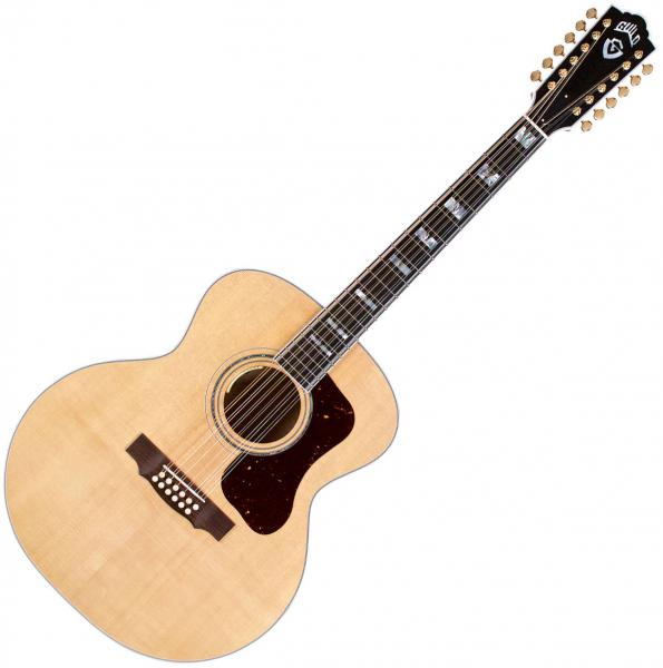 Acoustic guitar & electro Guild F-512E Maple USA - Natural