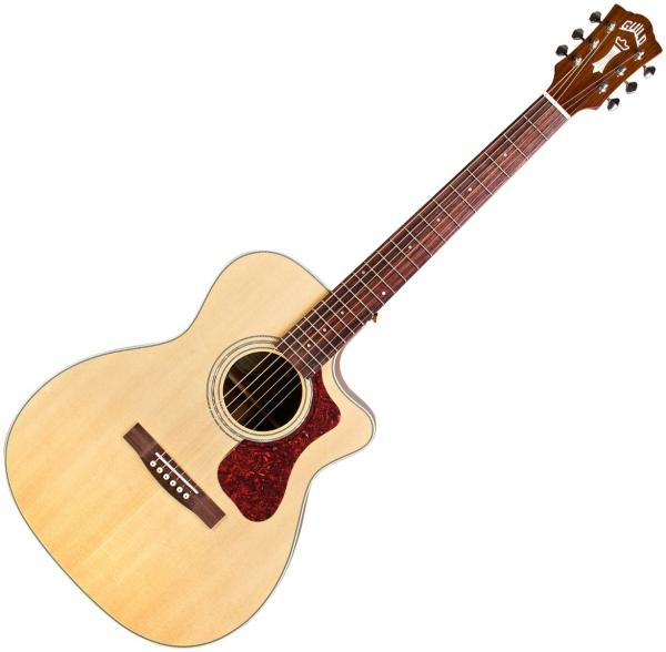 Acoustic guitar & electro Guild OM-140CE Westerly +bag - Natural