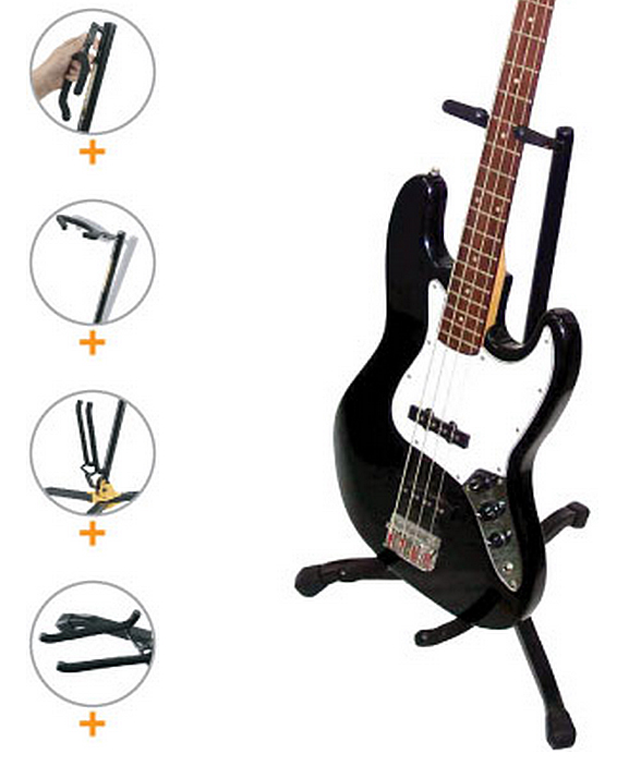Hercules Foldable Mini Guitar Floor Stand for Electric and Bass Guitars GS402BB