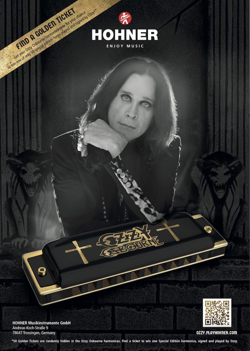 hohner ozzy osbourne harp chromatic harmonica star 39 s music. Black Bedroom Furniture Sets. Home Design Ideas