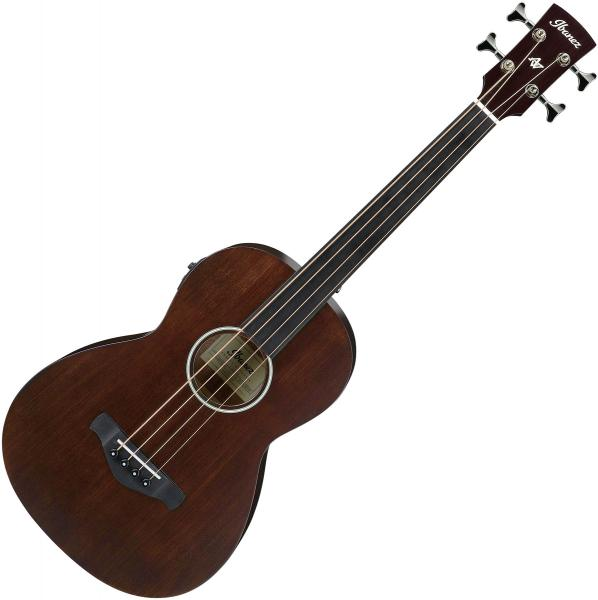 Acoustic bass Ibanez AVNB1FE BV Fretless Artwood - Brown violin