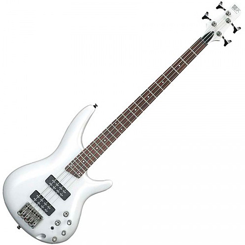 Solid body electric bass Ibanez SR300E PW Standard - Pearl white