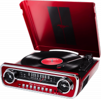 Turntables hifi Ion Mustang Lp Red