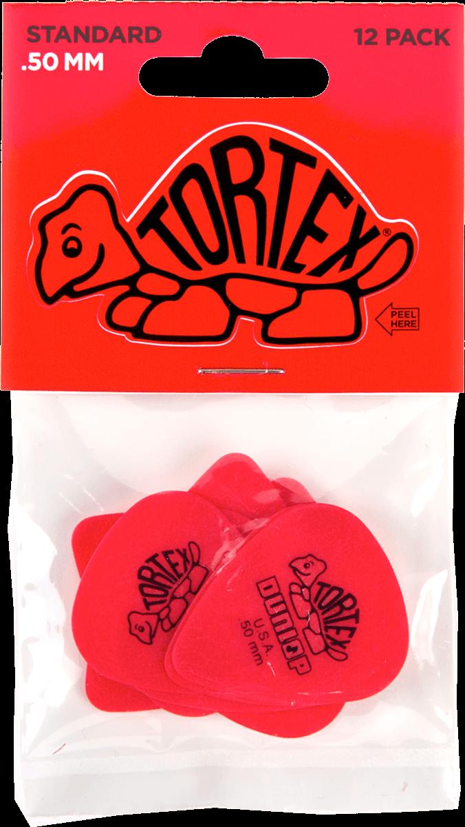 Dunlop Tortex Flex Standard Guitar Picks Red 0.50mm Packs Of 1 to 24