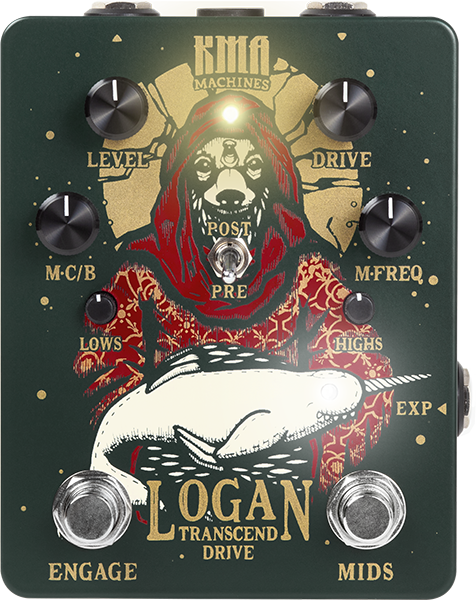Overdrive, distortion & fuzz effect pedal Kma LOGAN DRIVE