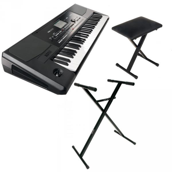Entertainer keyboard Korg PA300 + stand + banquette