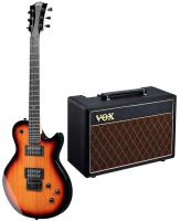 Electric guitar set Lag Imperator I60 Pack +VOX Pathfinder 10 +Accessories - Tobacco sunburst