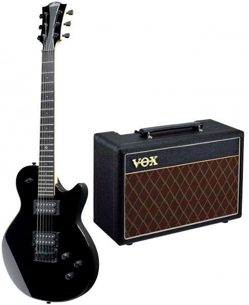 Electric guitar set Lag Imperator I60 Pack +VOX Pathfinder 10 +Accessories - Black