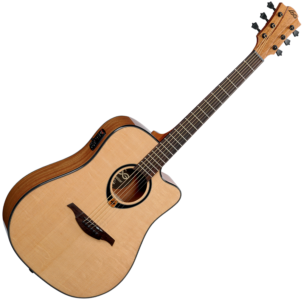 Lag Tramontane T80dce Natural Acoustic Guitar Electro