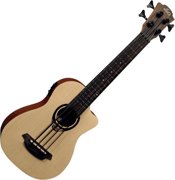 Acoustic bass Lag Tiki TKB150CE Mini Bass Fretless +Bag - Natural