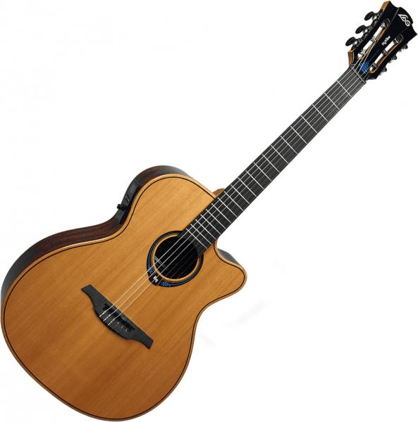 Classical guitar 4/4 size Lag TNHV15ACE Hyvibe - Naturel