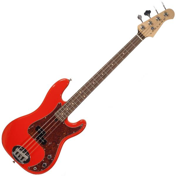 Solid body electric bass Lakland 44-64 Vintage P Ash USA - Fiesta red