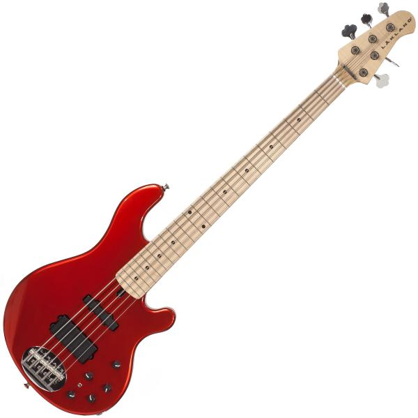 Solid body electric bass Lakland 55-14 USA Classic (MN) - Candy apple red
