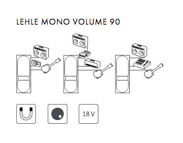 Volume, boost & expression effect pedal Lehle Mono Volume 90