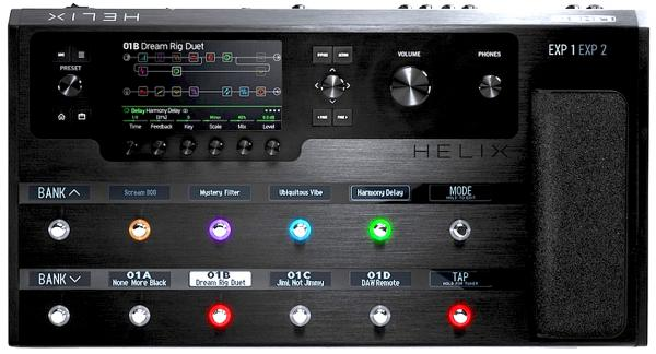 Multieffect for electric guitar Line 6 Helix Floor