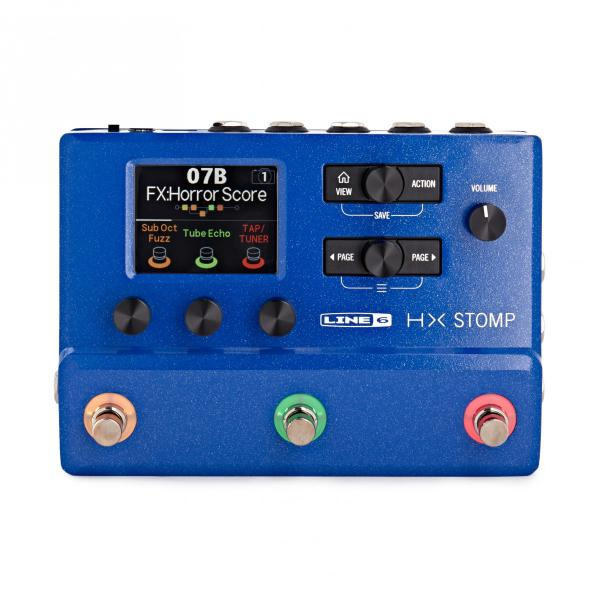 Multieffect for electric guitar Line 6 HX STOMP BLUE LTD