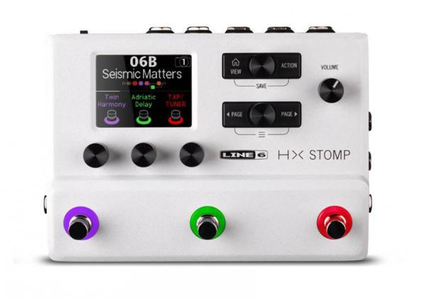 Multieffect for electric guitar Line 6 HX STOMP WHITE LTD