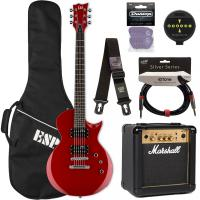Electric guitar set Ltd EC-10 KIT Pack +Marshall MG10 +Accessories - Red