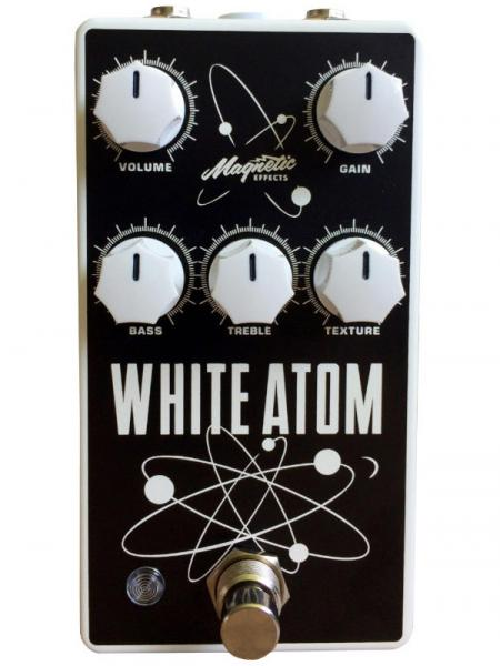Overdrive, distortion & fuzz effect pedal Magnetic effects White Atom V3 Silicon/Germanium Fuzz