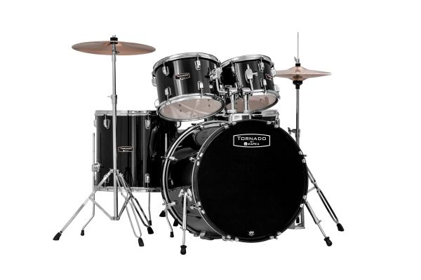 Fusion drum kit Mapex TND5044TCDK - New Tornado V2 Fusion 20 - 5 shells - Black