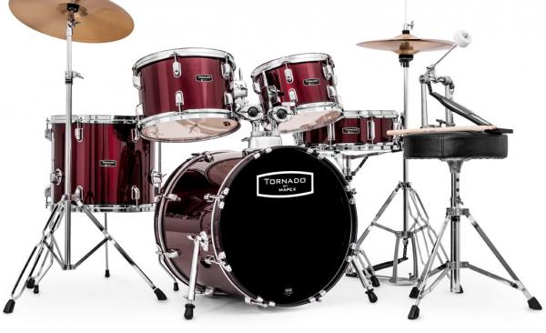 Jazz drum kit Mapex TND5844FT TORNADO JAZZ 18 - 5 shells - Wine red
